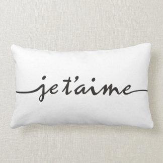 t'aime de je - je t'aime en français - noir oreillers
