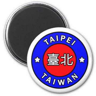 Taïpeh Taïwan Magnet Rond 8 Cm