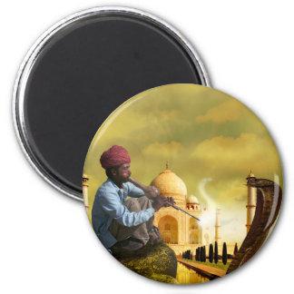 Taj Mahal Magnet Rond 8 Cm
