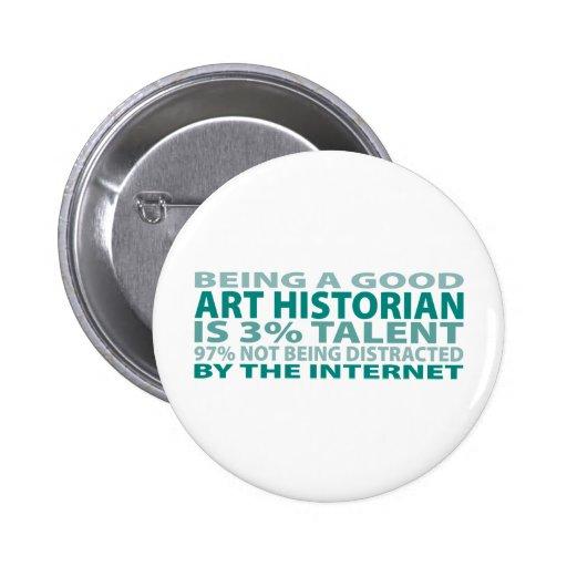 Talent de l'historien d'art 3% pin's avec agrafe
