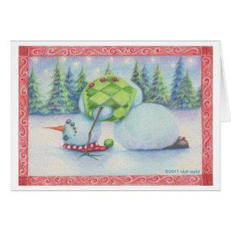 Talent de Scandinave de carte de Noël de bonhomme