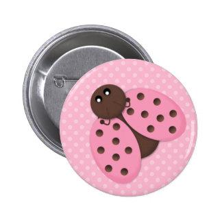 Talent rose de bouton de coccinelle pin's