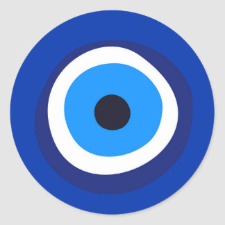 talisman arabe turc grec de symbole d'oeil mauvais sticker rond