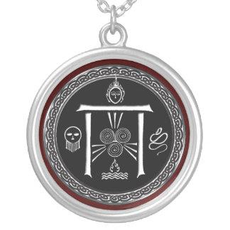 Talisman de la porte du druide pendentif rond