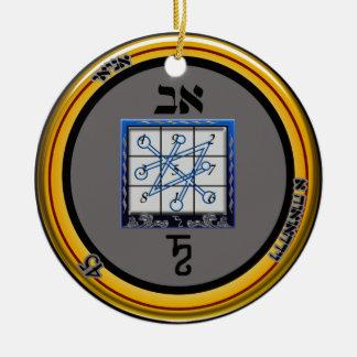 talisman de Saturne de kamea Ornement Rond En Céramique