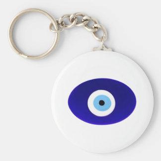 Talisman d'oeil mauvais porte-clé rond