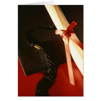 Taloche, diplôme, carte rouge de ruban
