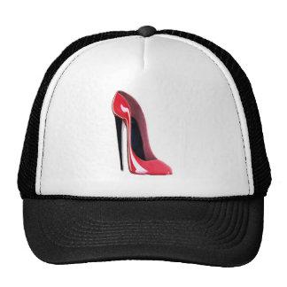 Talon noir, chaussure stylet rouge casquette de camionneur