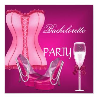 Talons de chaussures de rose de corset de partie carton d'invitation  13,33 cm