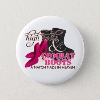 Talons hauts et bottes de combat (noir) badge