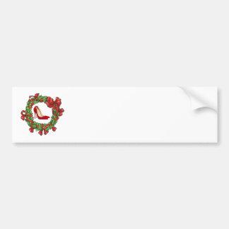 Talons hauts/guirlande rouges de Noël Autocollant Pour Voiture