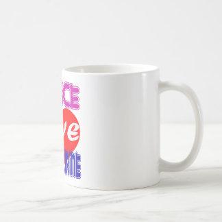 Tambour de basque d amour de paix tasse à café