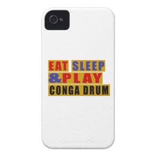 TAMBOUR mangez de sommeil et de jeu CONGA Coques Case-Mate iPhone 4