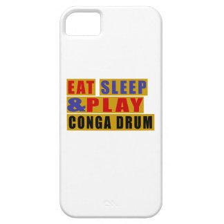 TAMBOUR mangez de sommeil et de jeu CONGA Étuis iPhone 5