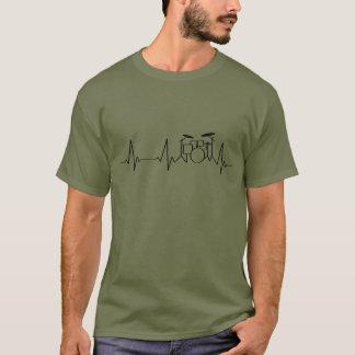 Tambours battants du battement de coeur | de t-shirt