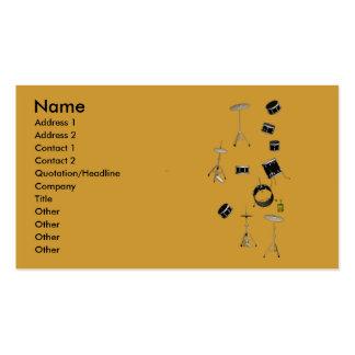 tambours carte de visite standard