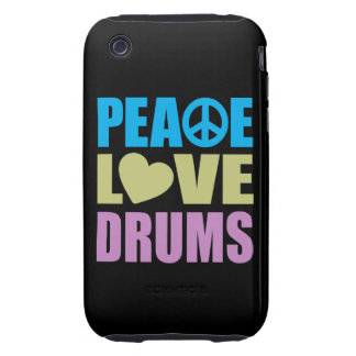 Tambours d amour de paix coques iPhone 3 tough