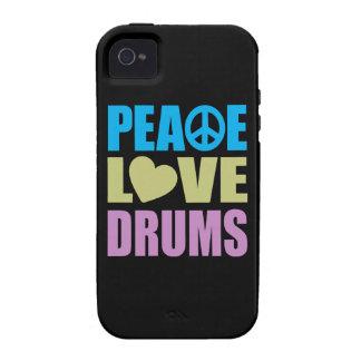Tambours d amour de paix coque Case-Mate iPhone 4