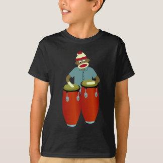 Tambours de Conga de singe de chaussette T-shirt