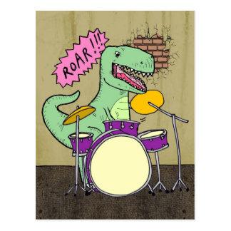 Tambours de T Rex Carte Postale