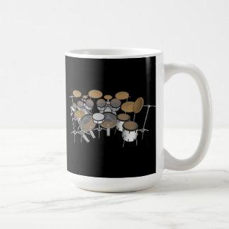 Tambours : Kit blanc de tambour : modèle 3D : Mug Blanc