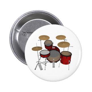 Tambours : Kit de tambour rouge : modèle 3D : Badges
