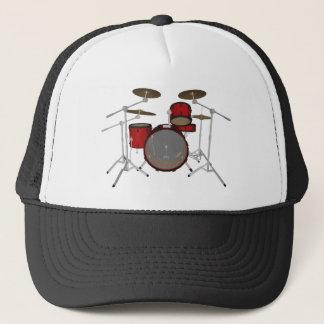 Tambours : Kit de tambour rouge : modèle 3D : Casquette