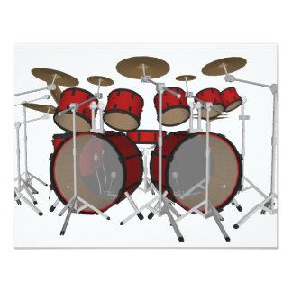 Tambours : Kit de tambour rouge : modèle 3D : Bristols