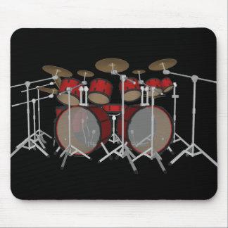 Tambours : Kit de tambour rouge : modèle 3D : Mous Tapis De Souris