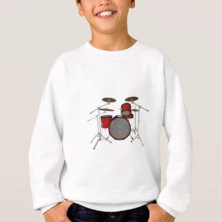 Tambours : Kit de tambour rouge : modèle 3D : Sweatshirt