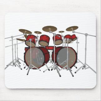 Tambours : Kit de tambour rouge : modèle 3D : Tapis De Souris