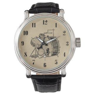 Tambours vintages de kit de tambour montres