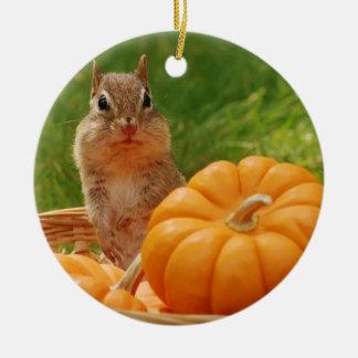 Tamia mignonne d'automne ornement rond en céramique