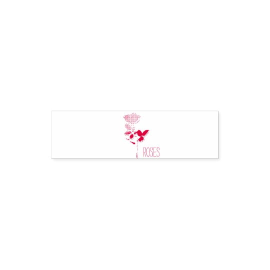 "Tampon Auto-encreur 1.4"" x 0.4"" Stamp Roses Tampon Auto-encreur"