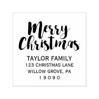 Tampon Auto-encreur Adresse de retour de Joyeux Noël
