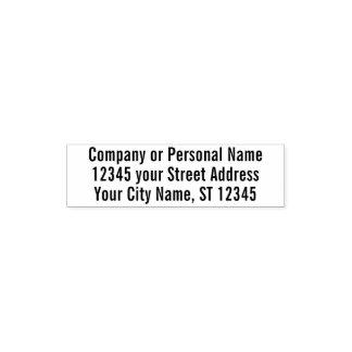 Tampon Auto-encreur Adresse de retour personnelle d'affaires de base