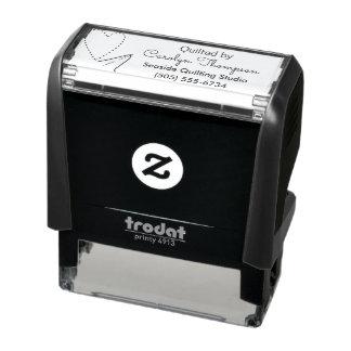 Tampon Auto-encreur Aiguille et fil Handcrafted par personnalisé