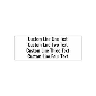 Tampon Auto-encreur Ajoutez votre texte préféré - quatre lignes