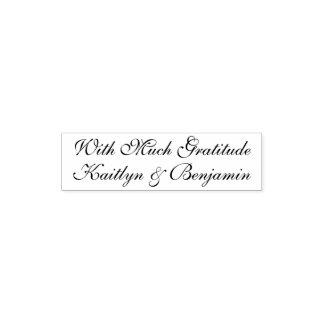 Tampon Auto-encreur Avec beaucoup de gratitude | Editable, manuscrit