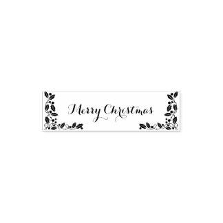 Tampon Auto-encreur Bonne année de Joyeux Noël