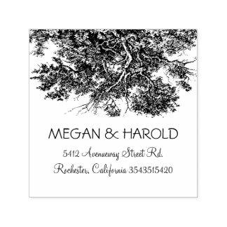 Tampon Auto-encreur Branches de chêne rustiques