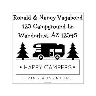 Tampon Auto-encreur Camping retiré rustique des profondément