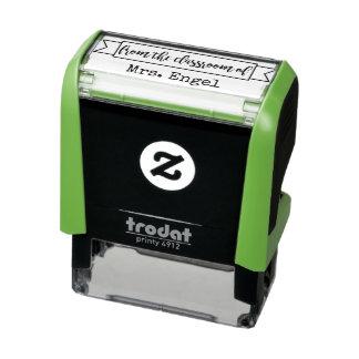 Tampon Auto-encreur DE LA SALLE DE CLASSE du timbre personnalisé de