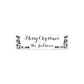 Tampon Auto-encreur Décor de nom de famille de Joyeux Noël et de Noël