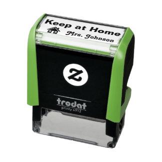Tampon Auto-encreur Gardez à la maison le timbre du professeur