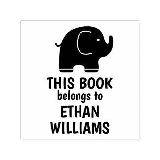 Tampon Auto-encreur L'individu d'éléphant encrant le timbre ce livre