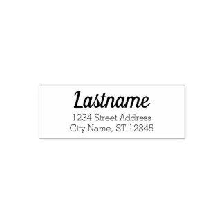 Tampon Auto-encreur Nom de famille fait sur commande et adresse de