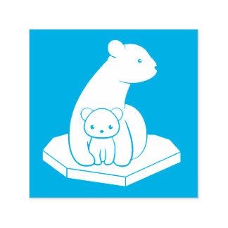Tampon Auto-encreur Ours blancs : Mère et CUB