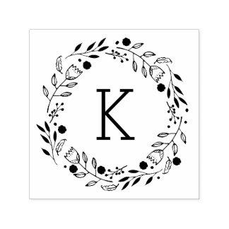 Tampon Auto-encreur Timbre de Auto-Encrage de monogramme fantaisie de
