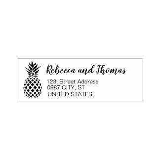 Tampon Auto-encreur Timbre de auto-encrage rustique d'ananas d'adresse